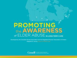 Developed by the Canadian Nurses Association and the Registered Nurses� Association of Ontario Adapted for use by  [nam