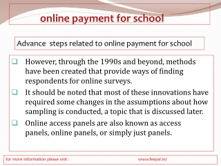 Free services of best online payment for school