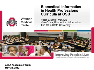 Biomedical Informatics in Health Professions Curricula at OSU
