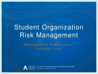 Student  Organization Risk Management
