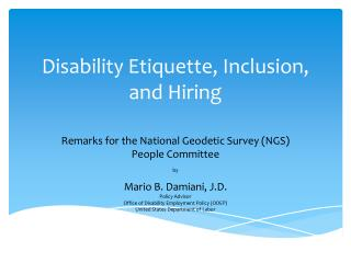Disability Etiquette, Inclusion, and Hiring