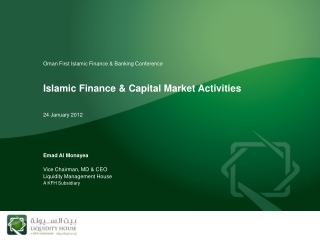 Islamic Finance & Capital Market Activities