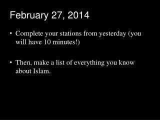 February 27, 2014