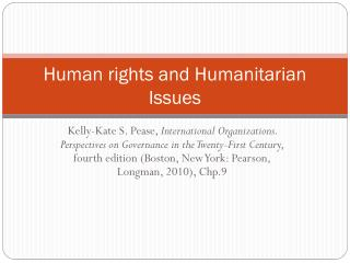 Human rights and Humanitarian Issues