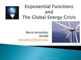 Exponential Functions  and  The Global Energy Crisis