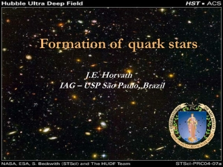 Formation of quark stars