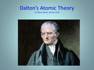 Dalton's Atomic Theory by  Tiffany, Katelyn, Veronica,  Kole