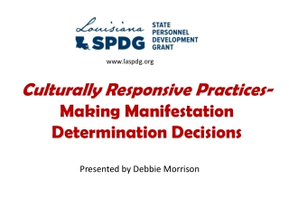 Culturally Responsive Practices- Making Manifestation Determination Decisions