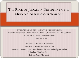 The Role of Judges in Determining the Meaning of Religious Symbols