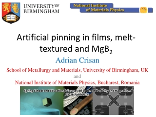 Artificial pinning in films, melt-textured and MgB 2