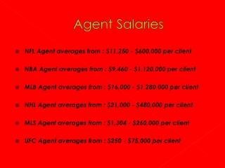 Agent Salaries