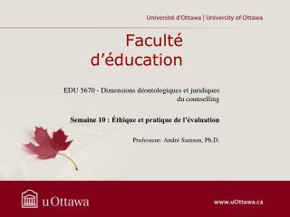 Faculté d'éducation