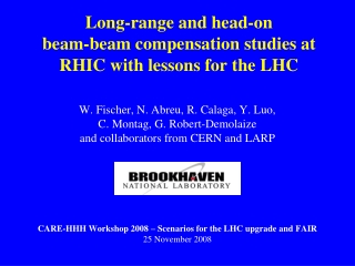 Long-range and head-on  beam-beam compensation studies at RHIC with lessons for the LHC