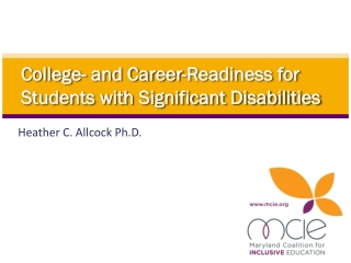 College- and Career-Readiness for Students with Significant Disabilities