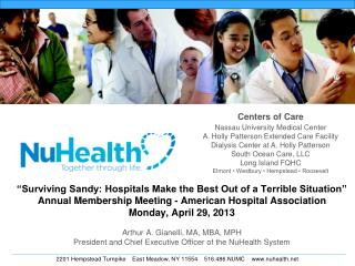 """Surviving Sandy: Hospitals Make the Best Out of a Terrible Situation"" Annual Membership Meeting - American Hospital As"