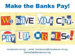 Make the Banks Pay!