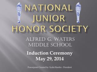 National Junior  Honor Society