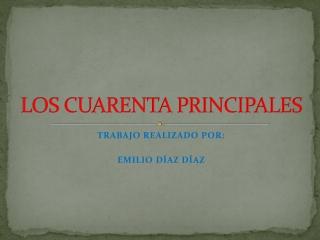 LOS CUARENTA PRINCIPALES
