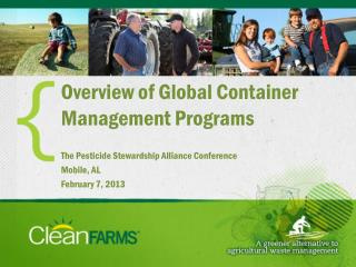 Overview of Global Container Management Programs