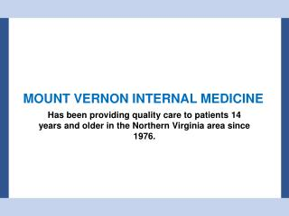 Mount Vernon Internal Medicine - Family Doctor & Physician in Alexandria