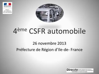 4 ème  CSFR automobile