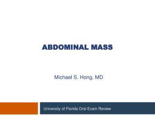 Abdominal mass