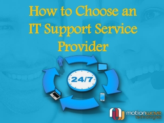 How to Choose an IT Support Service Provider