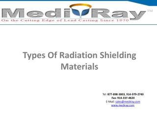 Medi-RayTM-Types of radiation shielding materials
