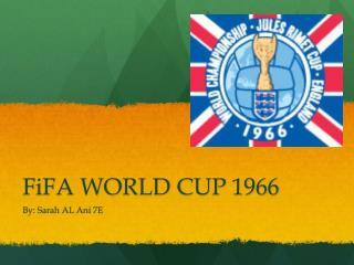 FiFA WORLD CUP 1966
