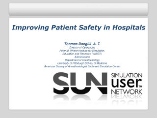 Improving Patient Safety in Hospitals