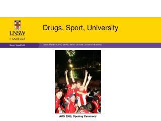 Drugs, Sport, University