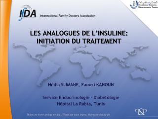les analogues de l insuline: initiation du traitement