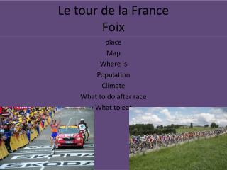 Le tour de la France  Foix