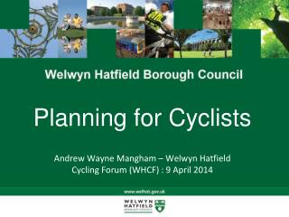 Planning for Cyclists