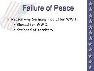 Failure of Peace