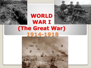 WORLD  WAR I (The Great War)  1914-1918