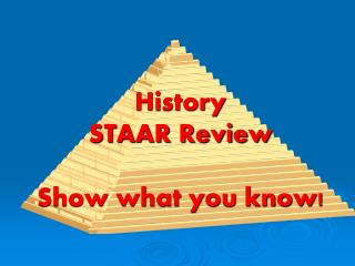 History STAAR Review Show what you know!