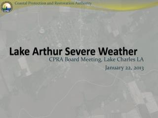 Lake Arthur Severe Weather