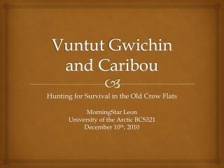Vuntut Gwichin and Caribou