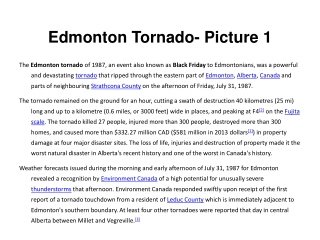 Edmonton  Tornado - Picture 1