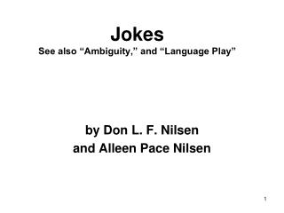 jokes see also  ambiguity,  and  language play