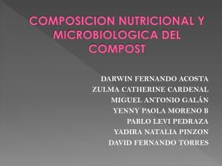 COMPOSICION NUTRICIONAL Y MICROBIOLOGICA DEL COMPOST