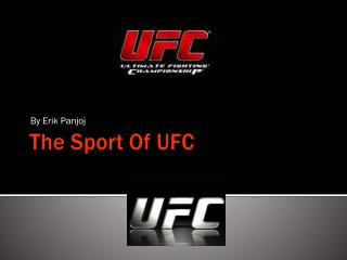 The Sport Of UFC