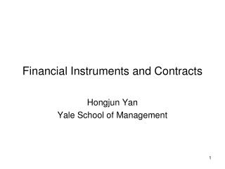 Financial Instruments and Contracts