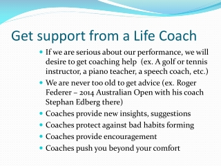 Get support from a Life Coach