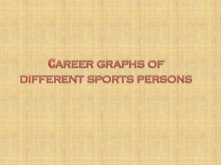 C areer  graphs  of different sports persons