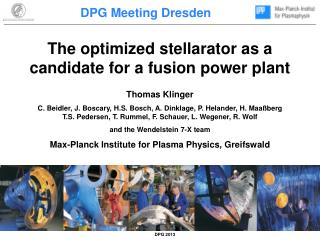 The  optimized  stellarator  as  a  candidate for  a  fusion  power plant