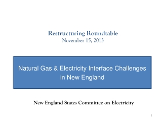 Restructuring Roundtable  November 15, 2013