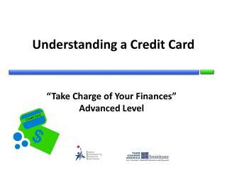 Understanding a Credit Card
