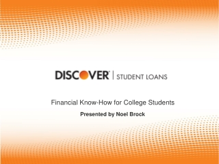 Financial  Know-How for College Students